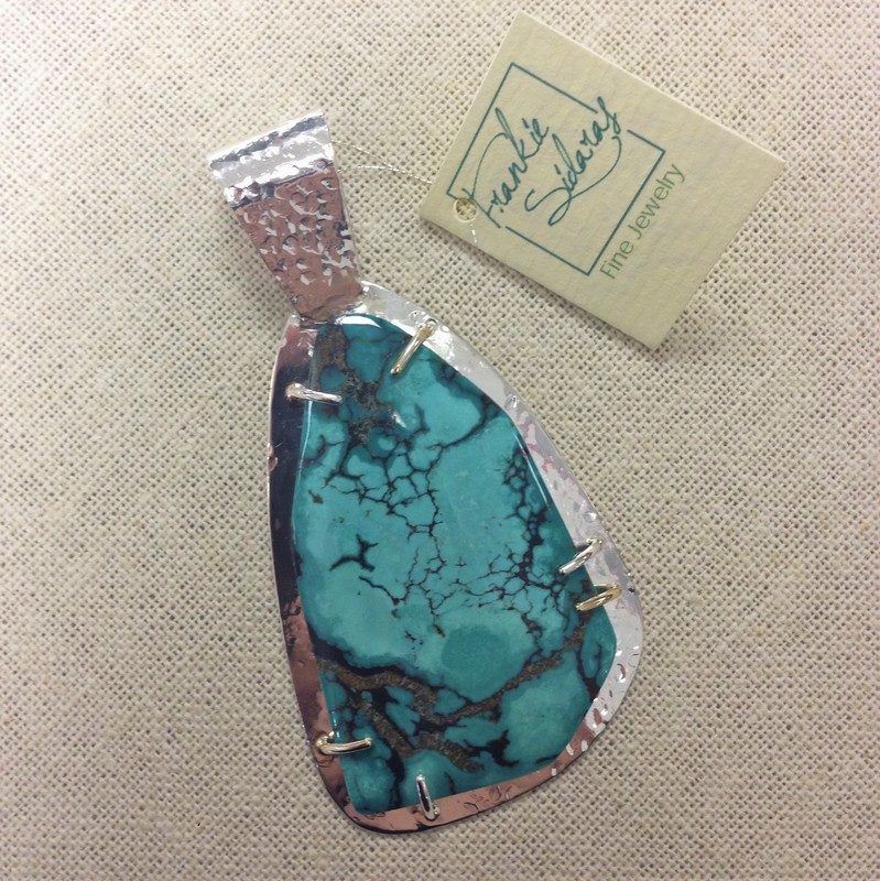turquoise and sterling silver pendant | FSG Fine Jewelry | Salado, TX